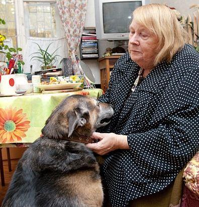 Людмила Иванова с любимой овчаркой Кузей