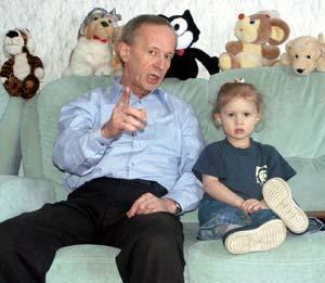 Виктор Косых с дочерью Катей
