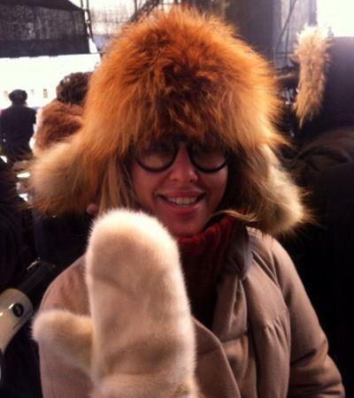 Ксения Собчак на митинге оппозиции