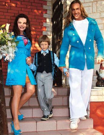 Счастливая семья - Наташа Королева, Сергей Глушко и их сын Архип