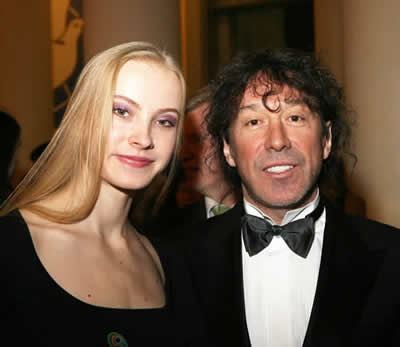 Vladimir Kuzmin with his young wife