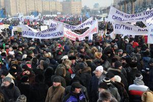 По предварительным подсчетам в митинге участвуют около 30 тысяч человек