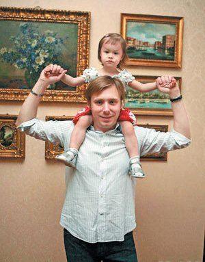 Александр Масляков-младший и его дочь Тая
