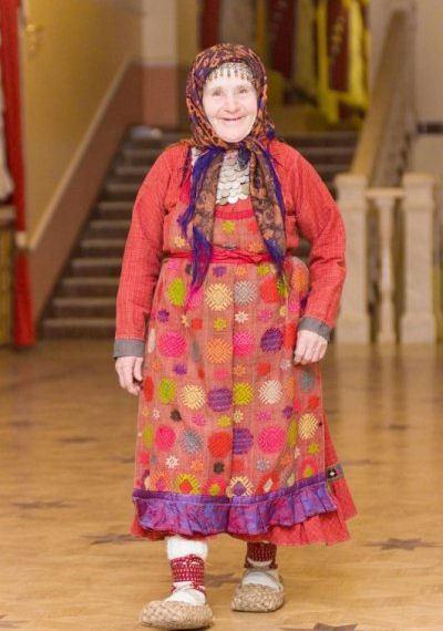Наталья Яковлевна Пугачева - самая старшая и самая веселая бурановская бабушка