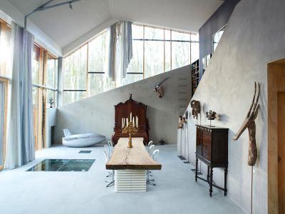 Креативный интерьер необычного жилища