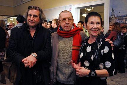 С женой Тамарой и режиссёром Анреем Житинкиным