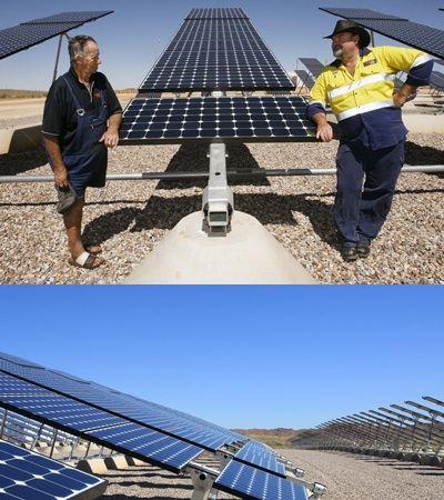 Дизель-солнечная электростанция в Западной Австралии