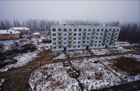 Заброшенный городок находится недалеко от Москвы