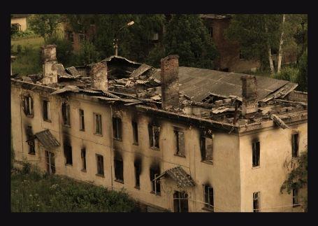 Пожары дополнили ужасающую картину всеобщей разрухи