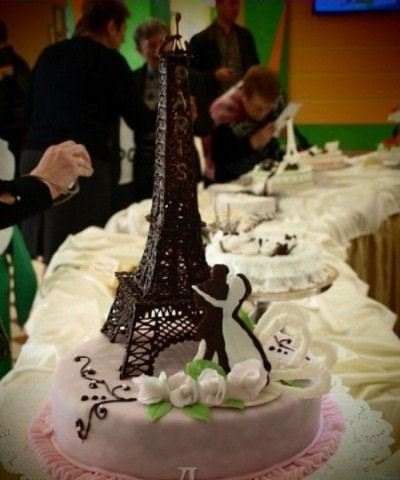торт эфелева башня фото