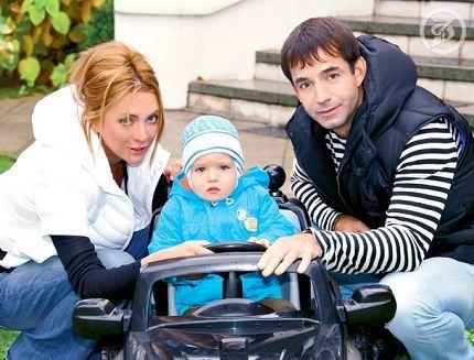С любимой женой и сыном