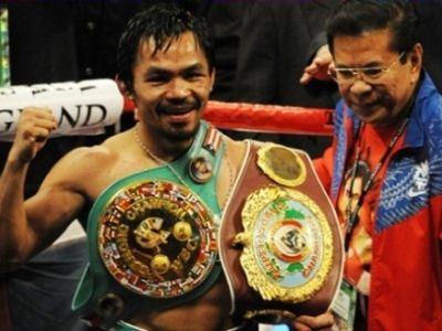 Мэнни Пакьяо - самый титулованный филиппинский боксер