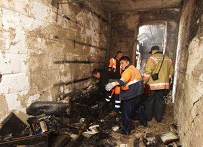 Пожар уничтожил квартиру Алибасова