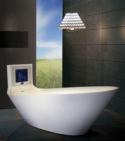 Ванна с телевизором