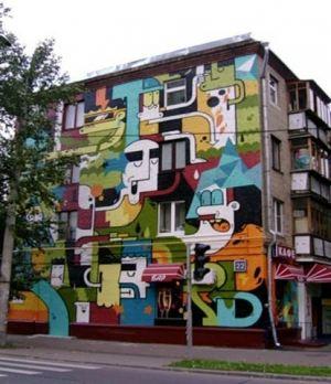 Губернатор распорядился перекрасить дома в яркие цвета