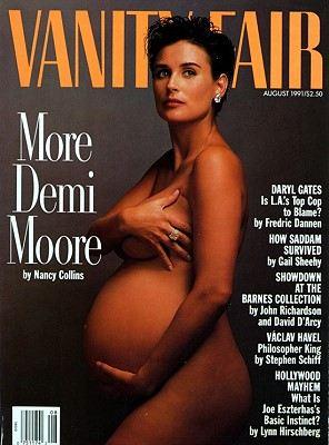 Беременная Деми Мур на обложке Vanity Fair (1991)