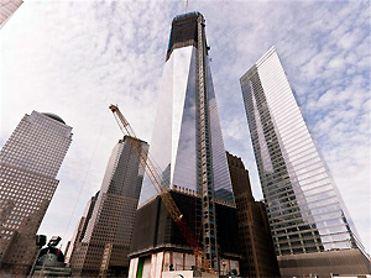 Башня свободы. Осталось нарастить всего несколько метров