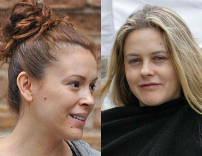 Алисия Сильверстоун и Алиса Милано без макияжа