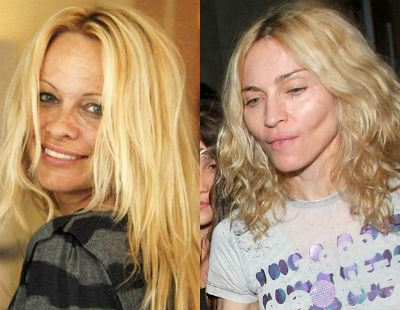 Мадонна и Памела Андерсон без макияжа огорчают