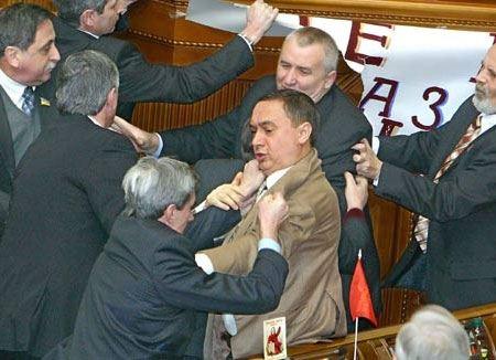 Депутаты украинской Рады подрались на заседании