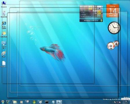 Плавающие рыбки в мониторе - излюбленный вариант живых обоев