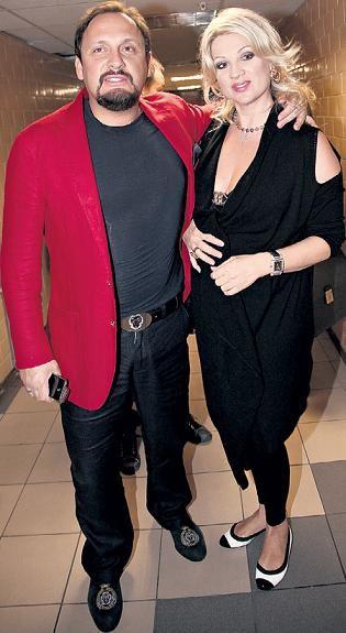 Stas Mikhailov with his wife Inna