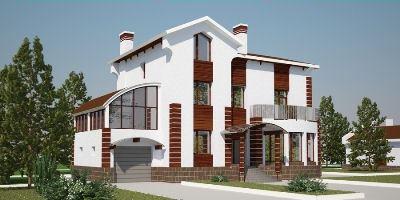 Кирпичный дом отличает надежность и красота.