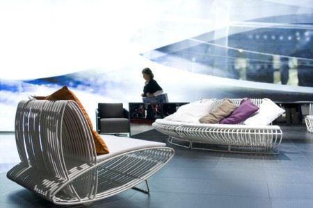 На мебельном салоне дизайнеры представили свои новейшие разработки.