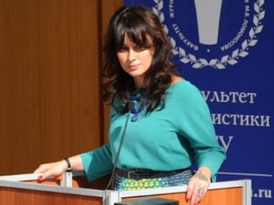 Тина Канделаки диктовала на факультете журналистики МГУ.