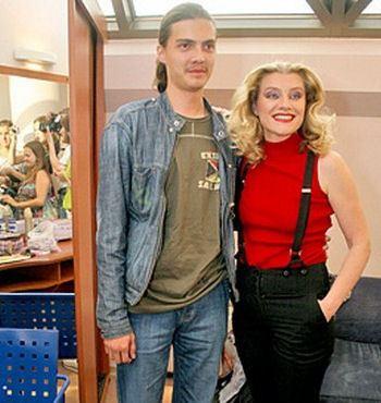 Галина Данилова с сыном Никитой