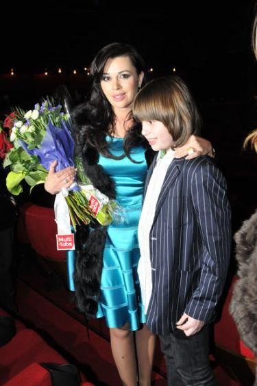 С сыном Майклом