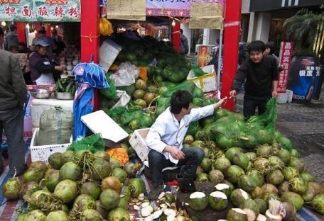 Овощной рынок в Китае богат и разнообразен