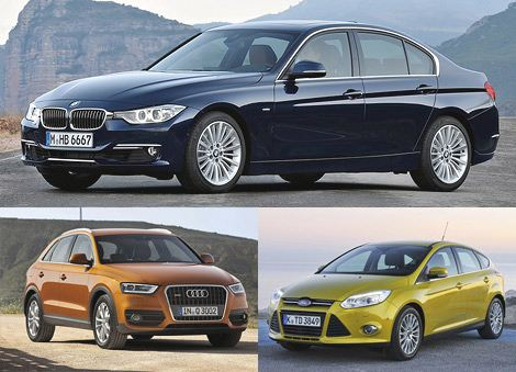 Лучший семейный автомобиль: седан BMW 3-Series, Audi Q3, Ford Focus