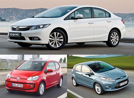 Лучшая экономичная машина: Honda Civic, VW up, Ford Fiesta