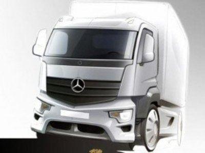 Эскиз нового грузовика Mercedes Antos