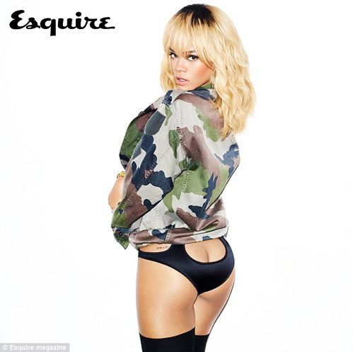Naked rihanna on the cover of Esquire
