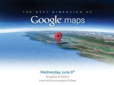 6 июня Google представит «карты Google нового измерения».