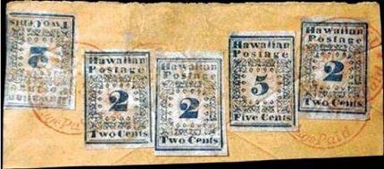 Первые гавайские марки