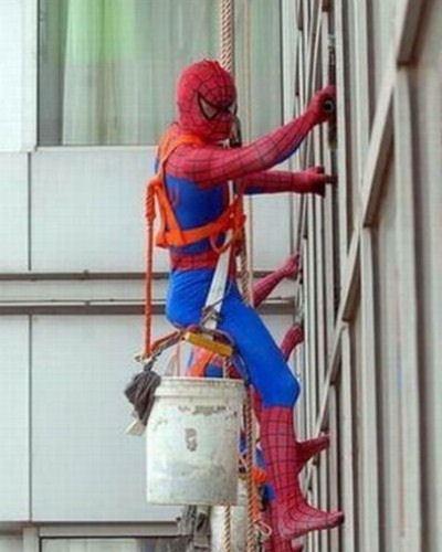 А это - заграничный Человек-паук