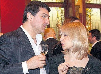 Вера Глаголева с мужем