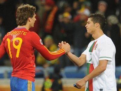 В полуфинале встретятся сборная Испании и сборная Португалии