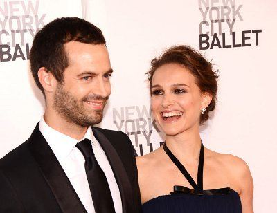 Natalie Portman with her chosen one, Benjamin Milpier