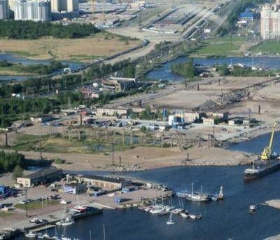 Место строительства Лахта-центра