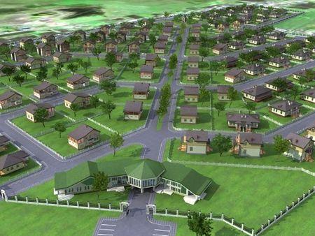 Примерно таким будет посёлок Новая Ребровка в скором времени