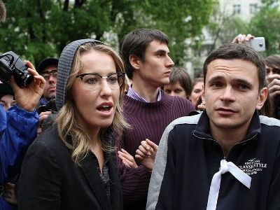 Ксюша Собчак и Игорь Яшин