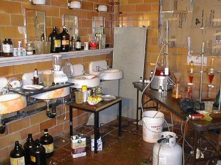 Подпольное производство амфетамина было налажено в бактериальной лаборатории больницы