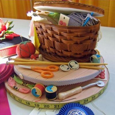Торт для рукодельниц