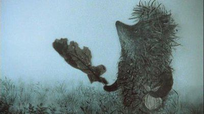 Кадр из мультипликационного фильма Ежик в тумане
