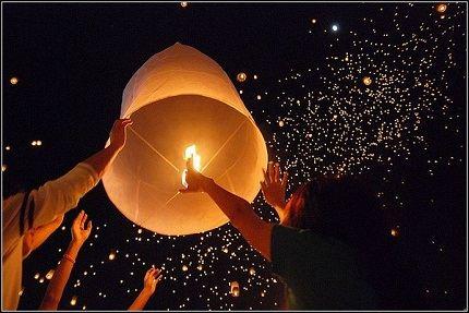 Завораживающие небесные фонарики
