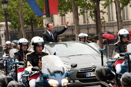 Автомобиль был выпущен для инаугурации президента Франции
